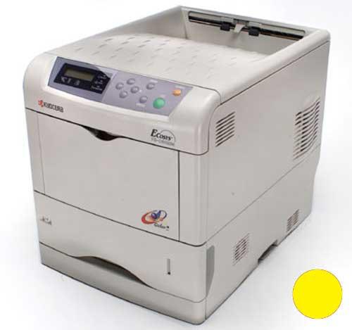 Заправка желтого  картриджа Kyocera TK-510Y для FS-C5020N/FS-C5025N/FS-C5030N с заменой чипа