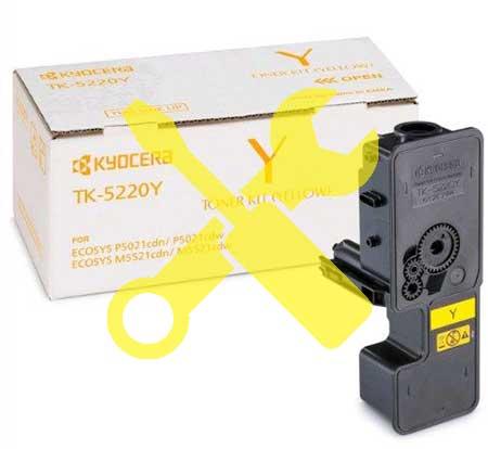 Заправка желтого картриджа Kyocera TK-5240Y для Ecosys M5526  M5526CDN  M5526CDW  P5026  P5026CDN  P5026CDW с заменой чипа