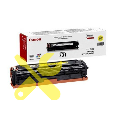 Заправка желтого картриджа Canon 731 для i-SENSYS LBP7100Cn / LBP7110Cw с заменой чипа