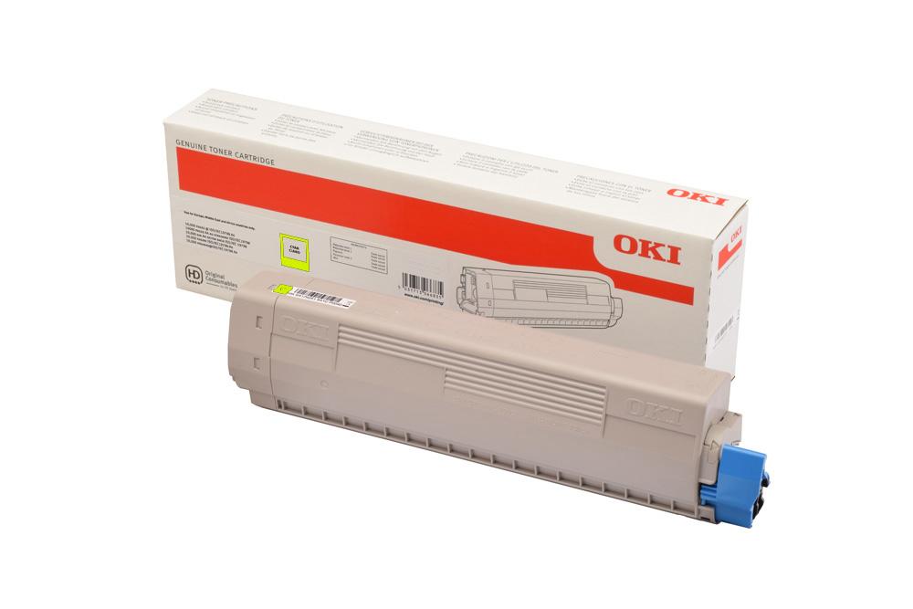Тонер-картридж OKI Toner-Y-C824 / C834 / C844 (yellow) 5000 страниц