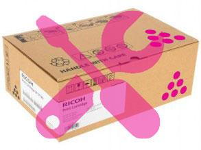 Заправка малинового картриджа Ricoh SP C252DN / C252SF с заменой чипа