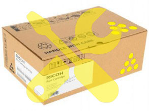Заправка желтого картриджа Ricoh SP C252DN / C252SF с заменой чипа
