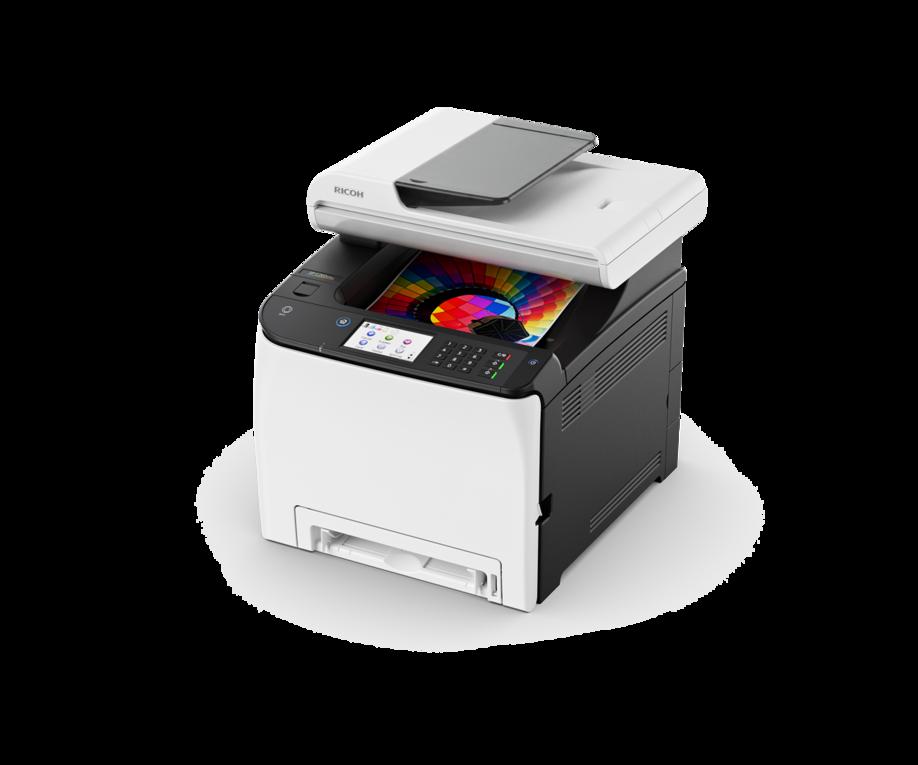 Цветное лазерное МФУ Ricoh SP C261SFNw с сенсорным дисплеем