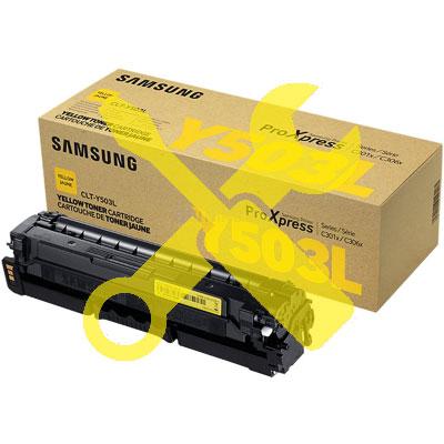 Заправка желтого картриджа CLT-Y503L для Samsung ProXpress C3010 / C3010ND / C3060 / C3060FR / C3060ND с заменой чипа