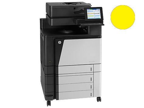 Заправка желтого картриджа 827A CF302A для HP Color LJ Enterprise flow M880 с заменой чипа