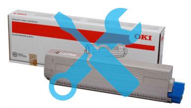 Заправка синего картриджа 47095707 OKI C824 / C834 / C844 с заменой чипа