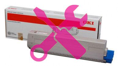 Заправка красного картриджа 47095706 OKI C824 / C834 / C844 с заменой чипа