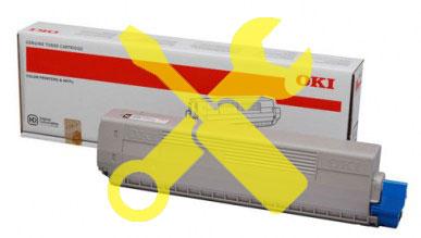 Заправка желтого картриджа 47095705 OKI C824 / C834 / C844 с заменой чипа