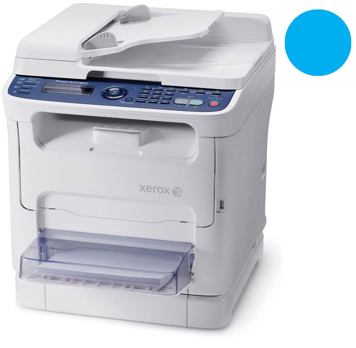 Заправка синего картриджа Xerox Phaser 6121 MFP с заменой чипа