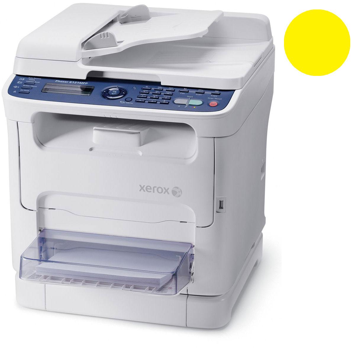 Заправка желтого  картриджа Xerox Phaser 6121 MFP с заменой чипа