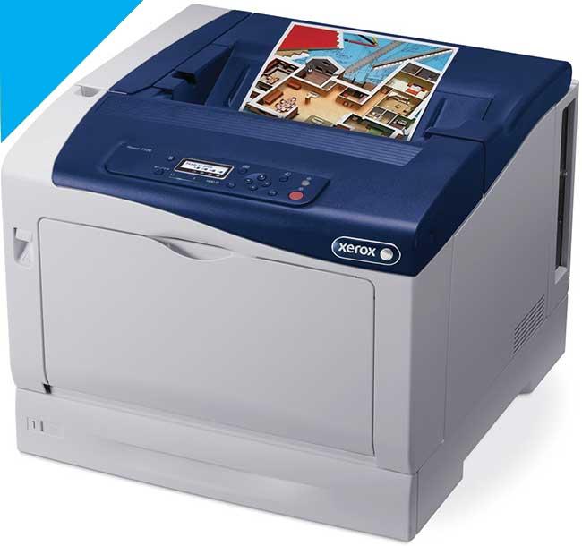 Заправка синего картриджа Xerox Phaser 7100 с заменой чипа