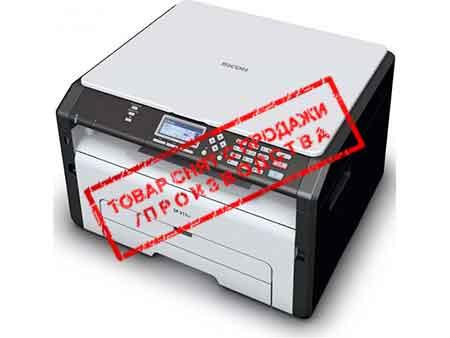 Ricoh архивные модели Ricoh Аппарат Ricoh SP 210SU, A4, 128Мб, 22стр/мин, GDI, цв.сканер, лоток 150л, старт.картридж 1000стр(МФУ)