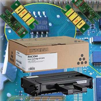 Заправка картриджа Ricoh SP201HE для SP211SU / SP213SFNw / SP220Nw / SP220SNw / SP220SFNw с заменой чипа