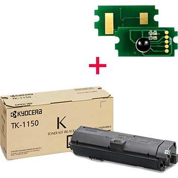 Заправка картриджа Kyocera TK-1150 для ECOSYS M2135dn / M2635dn / P2235dn с заменой чипа
