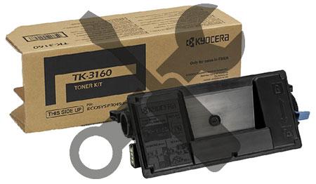 Заправка картриджа Kyocera TK-3160 для  ECOSYS P3045dn / P3050dn/ P3055dn/ P3060dn/ M3145dn/ M3645dn с заменой чипа
