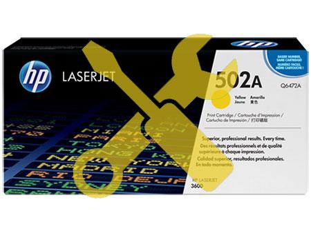 Заправка желтого картриджа Q6472A (502) для HP Color Laser Jet 3600 / 3800 / CP3505