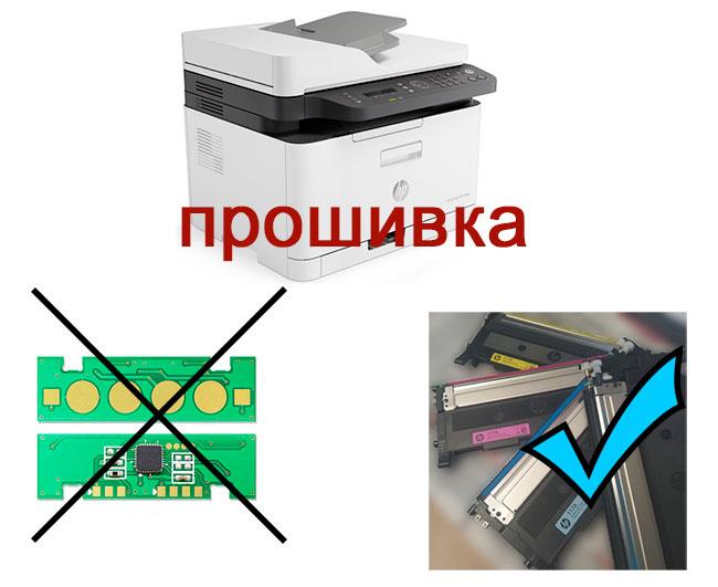 Прошивка HP Color Laser MFP 179fnw  для снятия блокировки по чипу