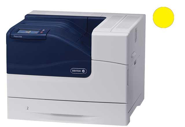 Заправка желтого картриджа Xerox Phaser 6700 с заменой чипа