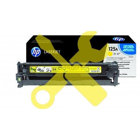 Заправка картриджа CB542A (128A) желтый для HP Color LaserJet CM1312 / CP1215 / CP1515n  с заменой чипа