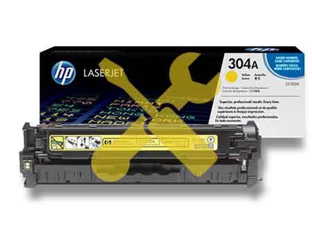 Заправка картриджа CC532A (304A) желтый для HP Color LaserJet CP2025 / CM2320 с заменой чипа