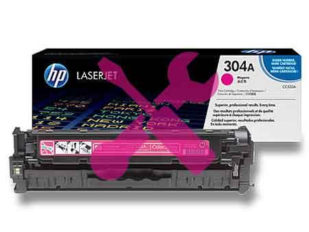 Заправка картриджа CC533A (304A) красный для HP Color LaserJet CP2025 / CM2320 с заменой чипа