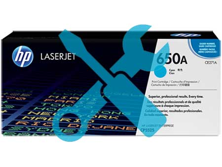 Заправка картриджа CE271A (650a) синий для HP Color LaserJet Enterprise CP5525dn