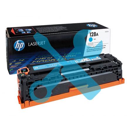 Заправка картриджа HP 128A (CE321A) синий для HP Color LaserJet Pro CP1525 / CM1415 с заменой чипа