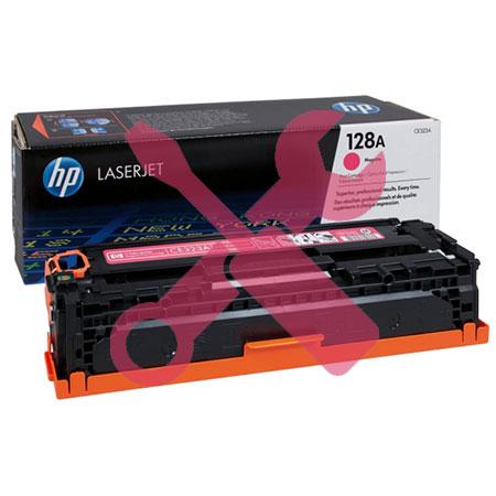 Заправка картриджа HP 128A (CE323A) красный для HP Color LaserJet Pro CP1525 / CM1415 с заменой чипа