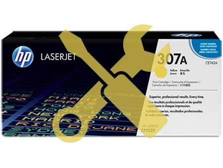 Заправка картриджа HP CE742A (307A) для HP Color LaserJet Professional CP5225  с заменой чипа