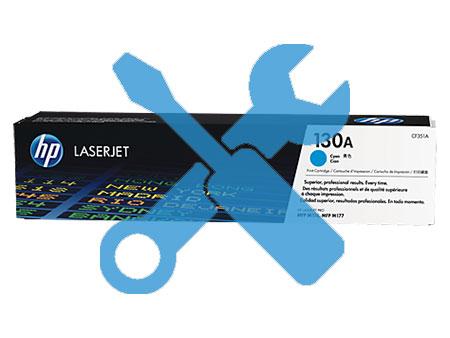 Заправка картриджа CF351A (130a) синий для HP Color Laserjet Pro M177fw / MFP M176n с заменой чипа