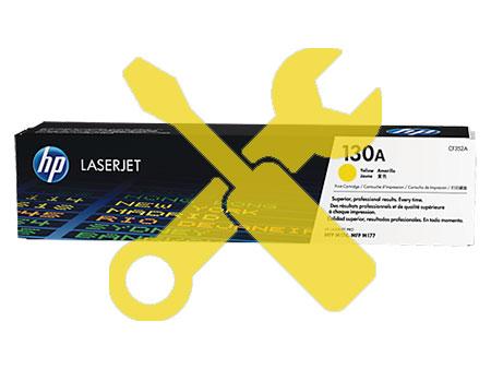 Заправка картриджа CF352A (130a) желтый для HP Color Laserjet Pro M177fw / MFP M176n с заменой чипа