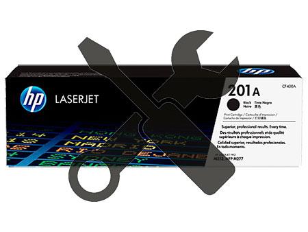 Заправка черного картриджа 201A  CF400A для HP Color LaserJet Pro M252  / M277 с заменой чипа