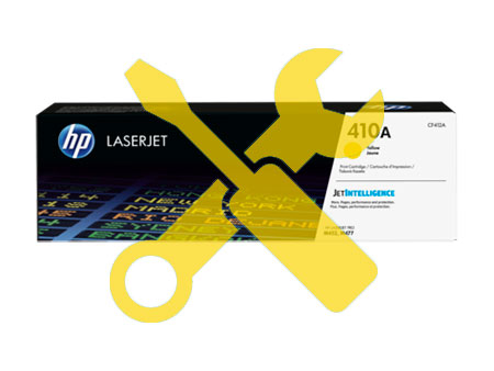 Заправка картриджа CF412A для HP Color LaserJet M452DN / M477 с заменой чипа