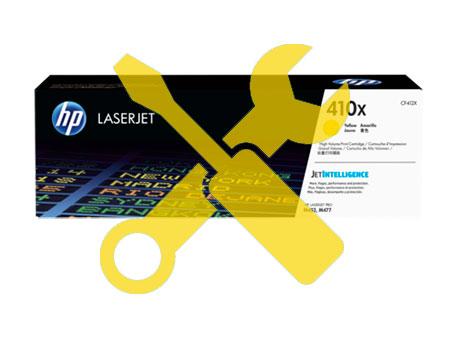 Заправка картриджа CF412X для HP Color LaserJet M452DN / M477 с заменой чипа
