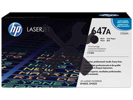 Заправка картриджа CE260A черный ( 647A ) для HP Color LaserJet CP4025 / CP4525 / CP4020 / CM4540