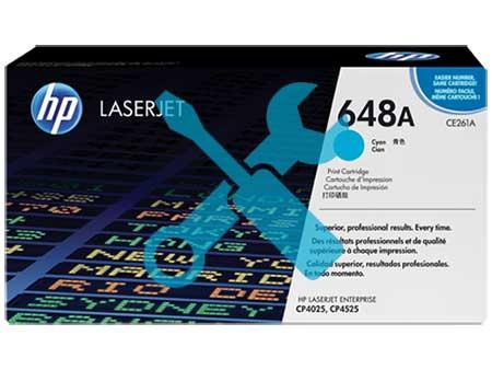 Заправка картриджа CE261A синий ( 648A ) для HP Color LaserJet CP4025 / CP4525 / CP4020 / CM4540