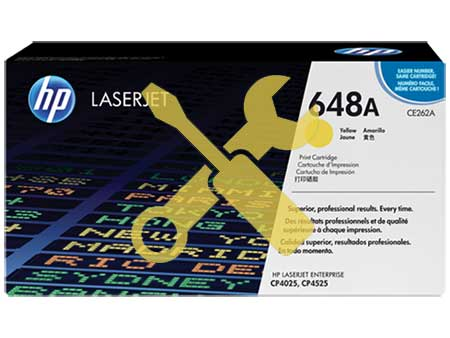 Заправка картриджа CE262A желтый ( 648A ) для HP Color LaserJet CP4025 / CP4525 / CP4020 / CM4540