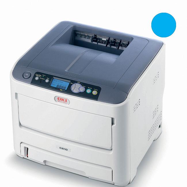 Заправка синего картриджа для OKI C610 с заменой чипа