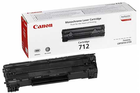 Картриджи Canon Canon Картридж черный оригинал (1,5К) [712] для Canon LBP3010 / 3100 / 3020