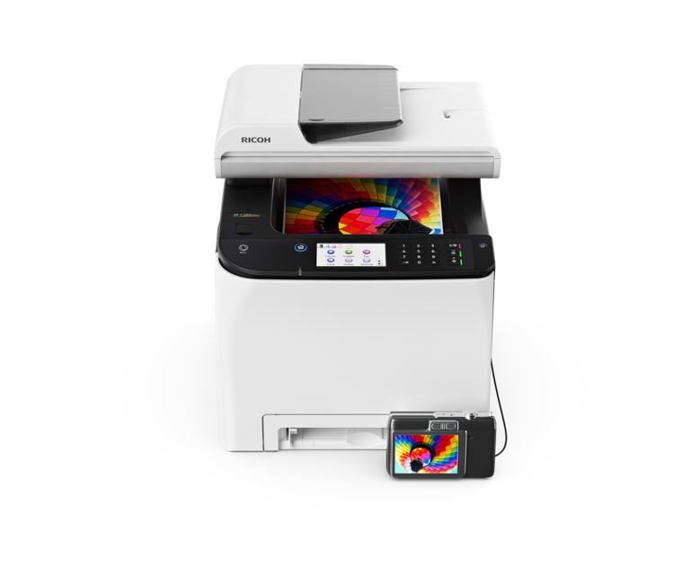 Цветное лазерное МФУ Ricoh SP C260SFNw