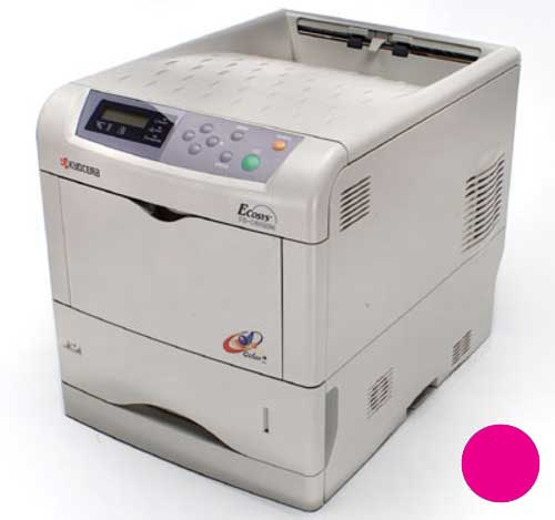 Заправка красного картриджа Kyocera TK-510M для FS-C5020N/FS-C5025N/FS-C5030N с заменой чипа