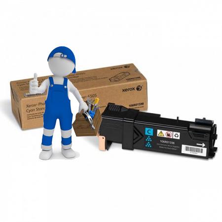Заправка картриджа  для Xerox Phaser 6500 / WC 6505 голубой
