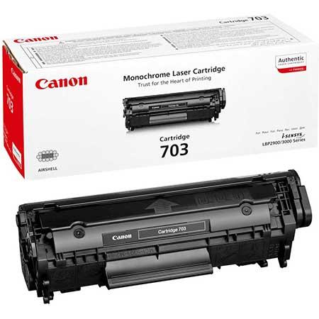 Картриджи Canon Canon Картридж черный оригинал (2К) [703 ] для Canon LBP2900 / LBP3000