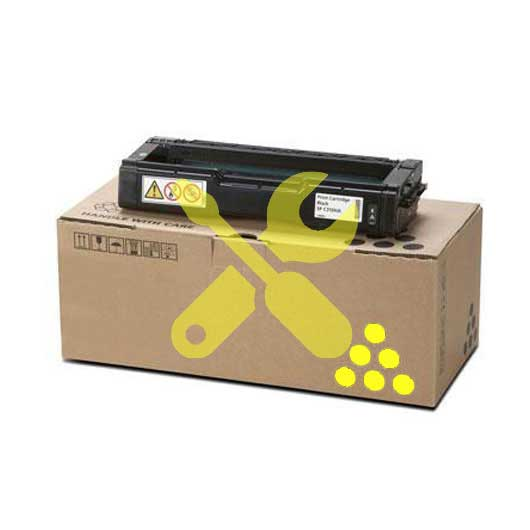 Заправка желтого картриджа Ricoh C310HE для SPC231SF / C232SF / Ricoh SPC231N / C232DN / C311N / C312DN / C320DN / C242DN / C242SF / С342DN с заменой чипа