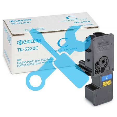 Заправка синего картриджа Kyocera TK-5240C для Ecosys M5526  M5526CDN  M5526CDW  P5026  P5026CDN  P5026CDW с заменой чипа