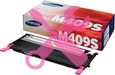 Заправка пурпурного  картриджа для Samsung CLP-310 / CLP-315 / CLX-3170 / CLX-3175 с заменой чипа