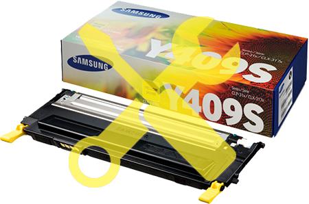 Заправка желтого картриджа для Samsung CLP-310 / CLP-315 / CLX-3170 / CLX-3175 с заменой чипа