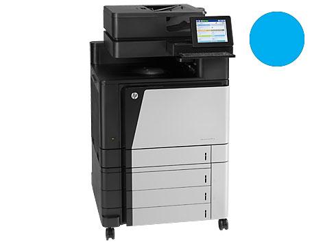 Заправка синего картриджа 827A CF301A для HP Color LJ Enterprise flow M880 с заменой чипа