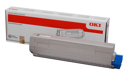 Тонер-картридж  OKI розовый TONER-M-C822-7.3K-NEU