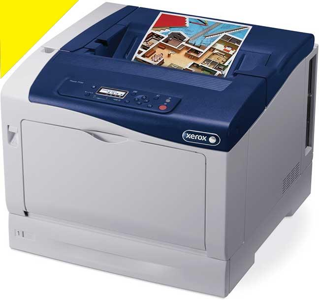 Заправка желтого картриджа Xerox Phaser 7100 с заменой чипа